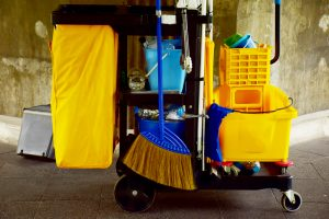 cleaning cart with disinfectants 300x200 - Killing Germs, Pathogens, and Microorganisms