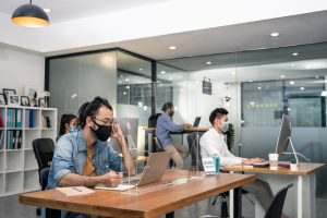 covid at the office 300x200 - How to Keep Your Facility Properly Sanitized During COVID-19
